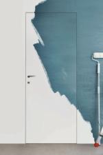 Комплект скрытой двери кромка под покраску